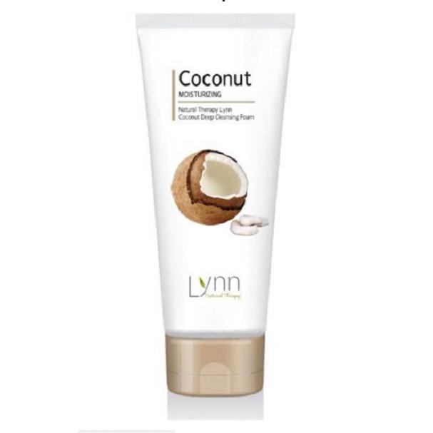 Sữa rửa mặt trắng da dừa cao cấp (Hàn Quốc) Welcos natural therapy Lynn coconut deep cleansing foam 120g