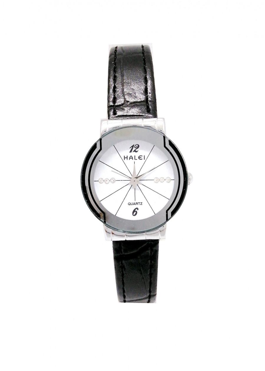 Đồng hồ Nữ Halei - HL457 Dây da đen