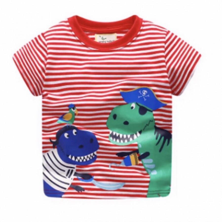 Áo bé trai in hình khủng long