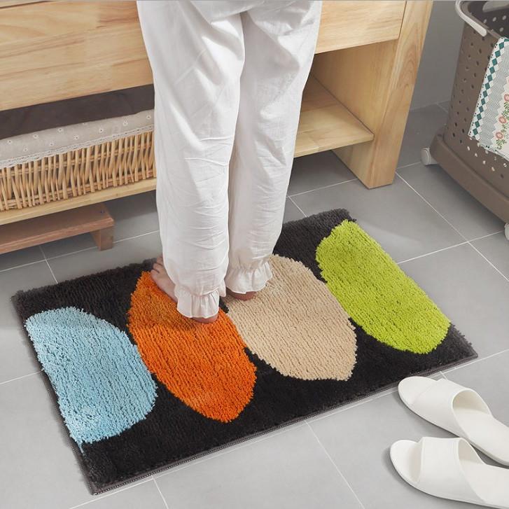Thảm Cotton Len Dệt Vải Nổi Chiếc Lá Cao Cấp PA9162