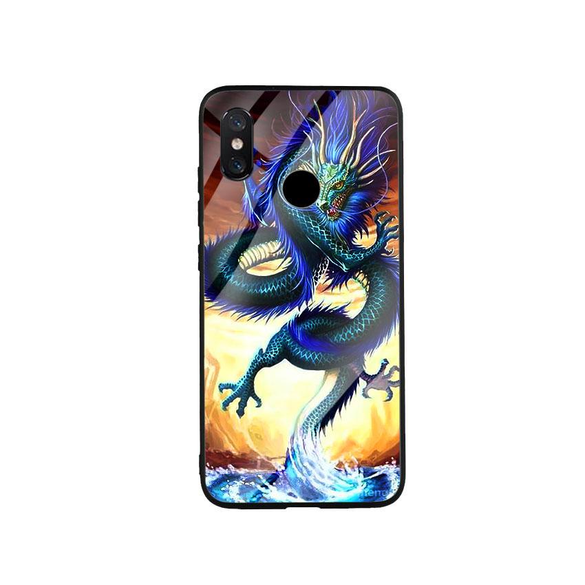 Ốp Lưng Kính Cường Lực cho điện thoại Xiaomi Mi 8 - Dragon 08