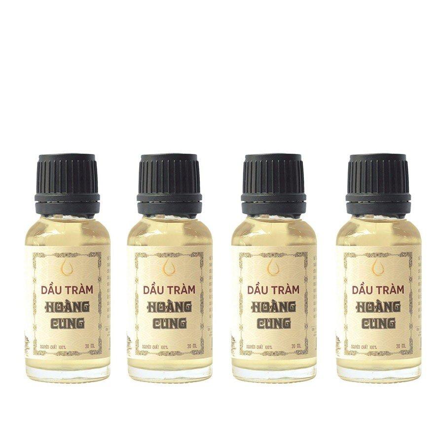 Bộ 4 chai tinh dầu tràm Huế - dầu tràm Hoàng Cung 20ml