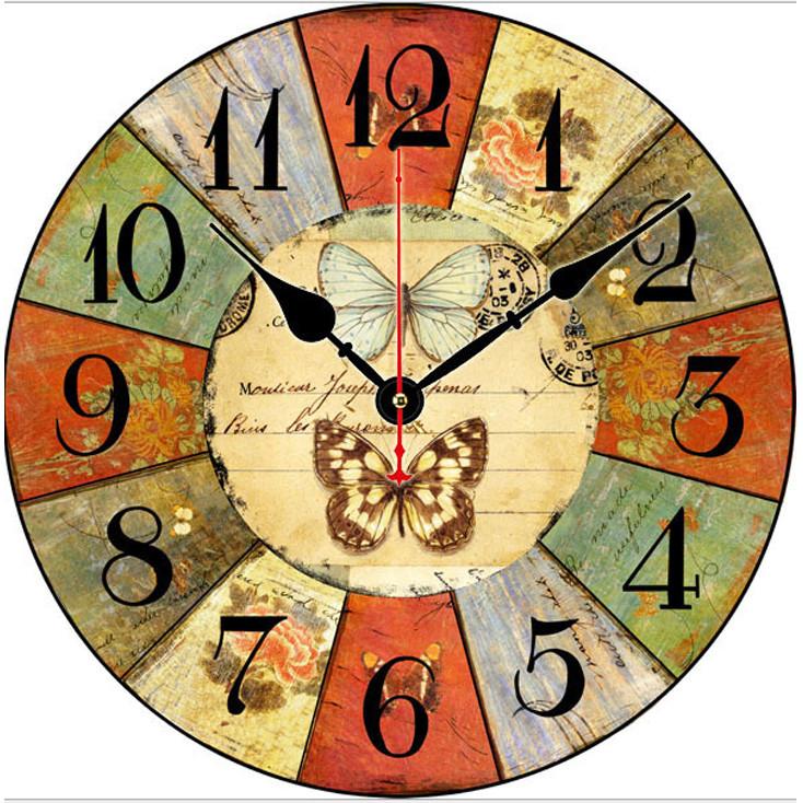Đồng hồ treo tường Vintage Phong cách Châu Âu size to 30cm DH36