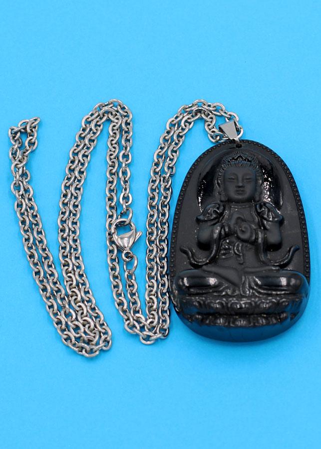 Vòng cổ Đại Nhật như lai thạch anh đen 4.3 cm - Phật bản mệnh tuổi Mùi, Thân - Đem lại bình an, may mắn cho người... - 2165423 , 9168731973176 , 62_13866643 , 400000 , Vong-co-Dai-Nhat-nhu-lai-thach-anh-den-4.3-cm-Phat-ban-menh-tuoi-Mui-Than-Dem-lai-binh-an-may-man-cho-nguoi...-62_13866643 , tiki.vn , Vòng cổ Đại Nhật như lai thạch anh đen 4.3 cm - Phật bản mệnh tuổi