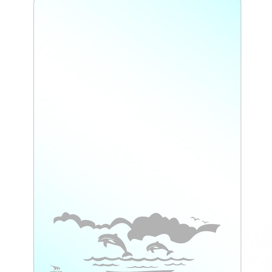 Gương bo góc hoa văn cao cấp Hoàng Thiện HT 9964