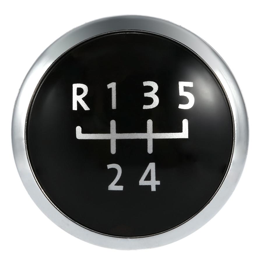 5/6 Speed Gear Knob Badge Emblem Cap Knob Cover Replacement for VW T5 Transporter 2003-2010 - black