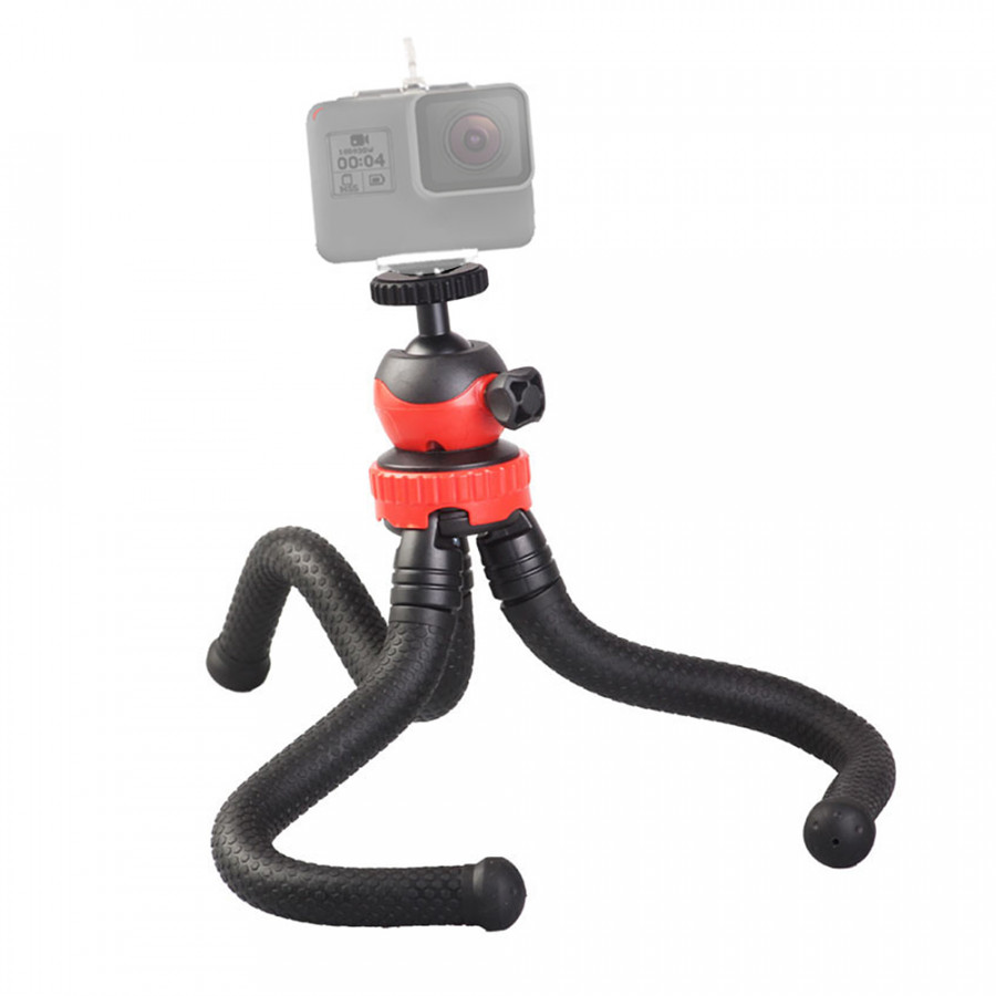 Mini Flexible Tripod Octopus Spider Stand Holder with 360° Ball Head for GoPro Heor 6/5/4/3+/3 Yi Action Camera for