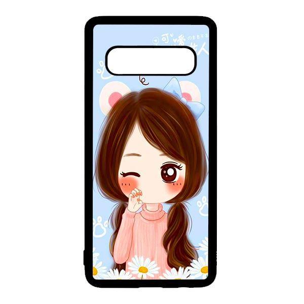 Ốp lưng điện thoại dành cho Samsung S10  Anime Cô Gái Nháy Mắt