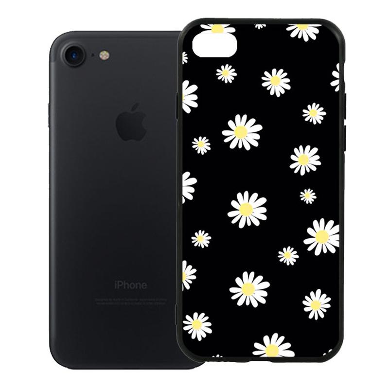 Ốp Lưng Viền TPU Cao Cấp Dành Cho iPhone 7 - Cúc Họa Mi