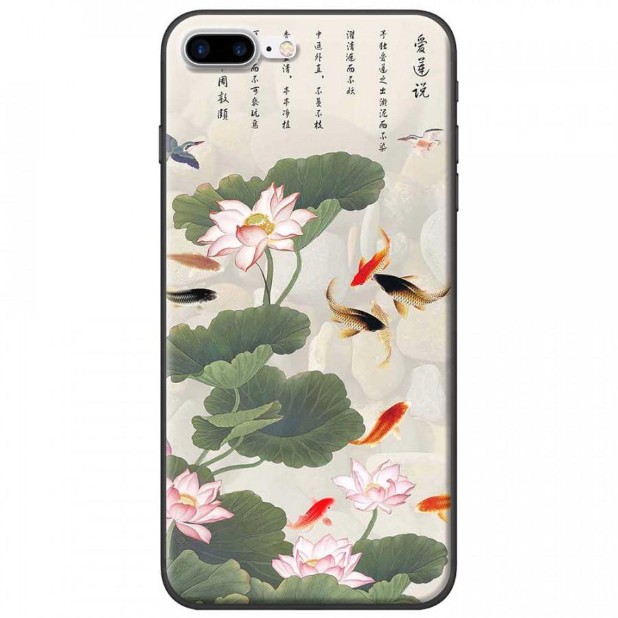 Ốp lưng dành cho iPhone 7 Plus mẫu Hoa sen cá