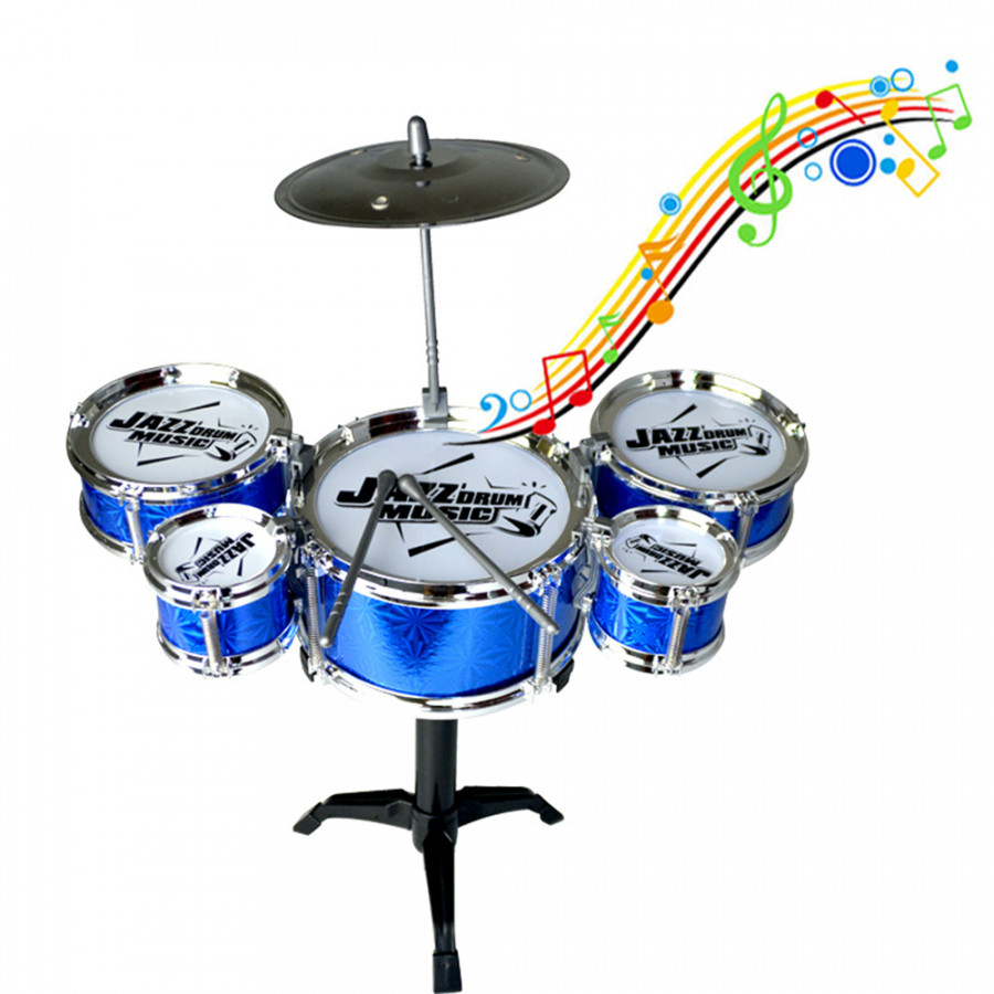 Kids Musical Toys Simulation Jazz Drum Music with 5 Drums Sets Beat Children