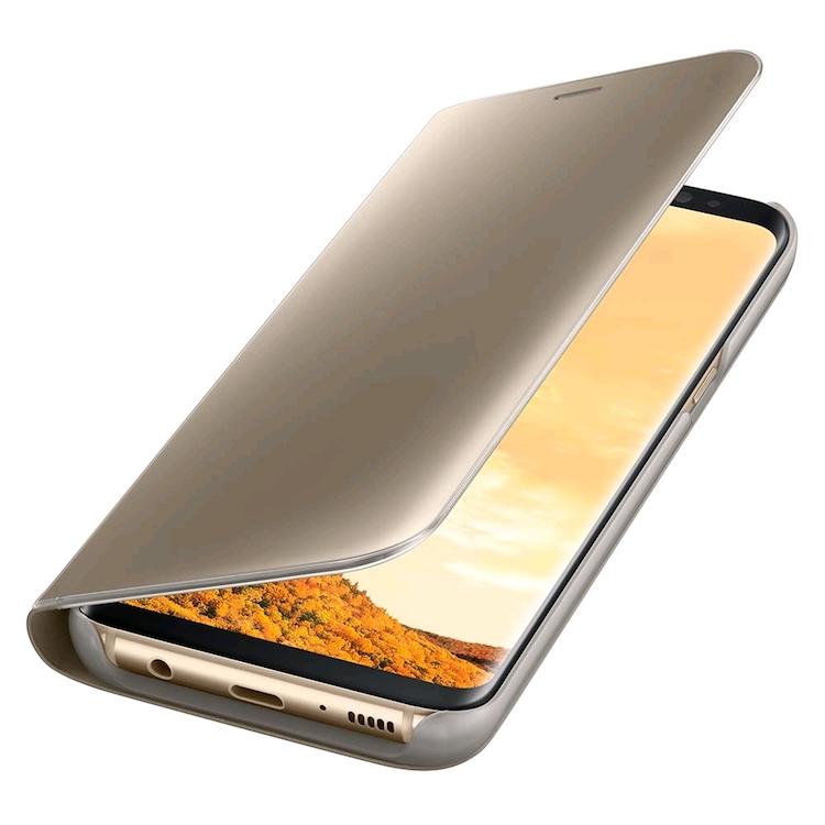 Bao Clear View Standing cho Samsung Galaxy S8 (vàng)