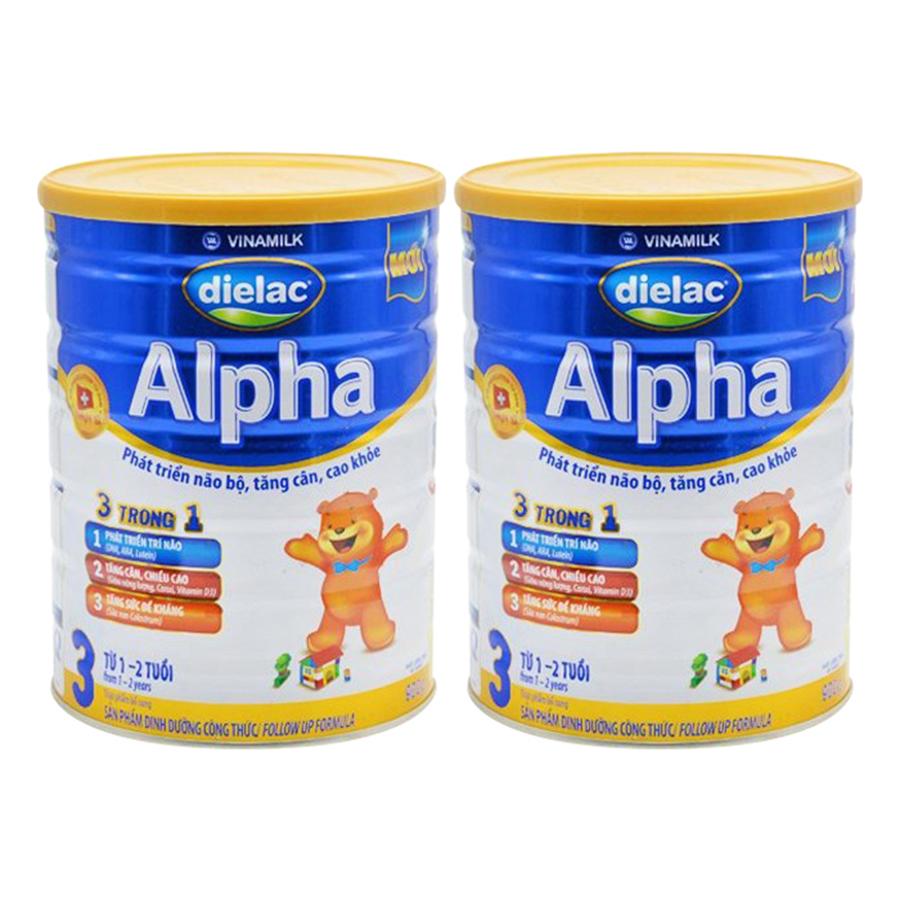 Bộ 2 Sữa Bột Vinamilk Dielac Alpha Step 3 (900g / Lon) - 985179 , 6285688825600 , 62_2593643 , 355000 , Bo-2-Sua-Bot-Vinamilk-Dielac-Alpha-Step-3-900g--Lon-62_2593643 , tiki.vn , Bộ 2 Sữa Bột Vinamilk Dielac Alpha Step 3 (900g / Lon)