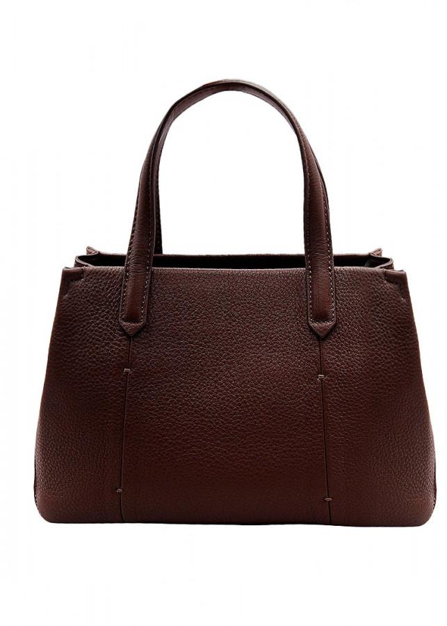 Túi xách nữ da bò thật màu nâu ET645