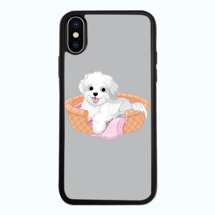 Ốp Lưng Kính Cường Lực Dành Cho Điện Thoại iPhone X Puppy Cute Mẫu 5
