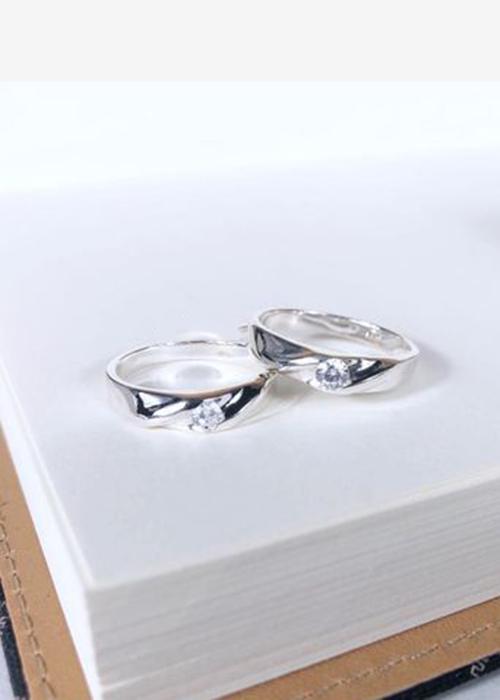 Nhẫn đôi bạc cao cấp N1502