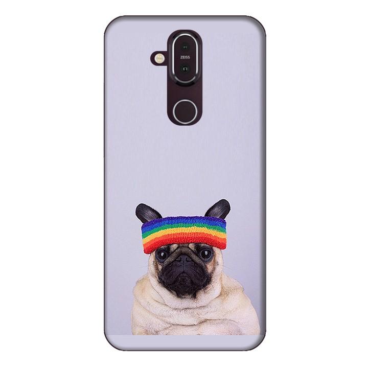Ốp lưng dành cho điện thoại Nokia 8.1 Cún Cưng Đội Nón Mẫu 1