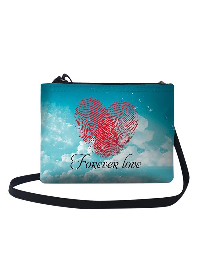 Túi Đeo Chéo Nữ In Hình Forever Love - TUCP017 (24 x 17 cm)