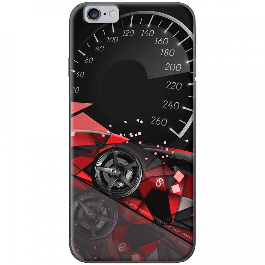 Ốp lưng dành cho iPhone 6 Plus, iPhone 6S Plus mẫu Đồng hồ tốc độ đỏ