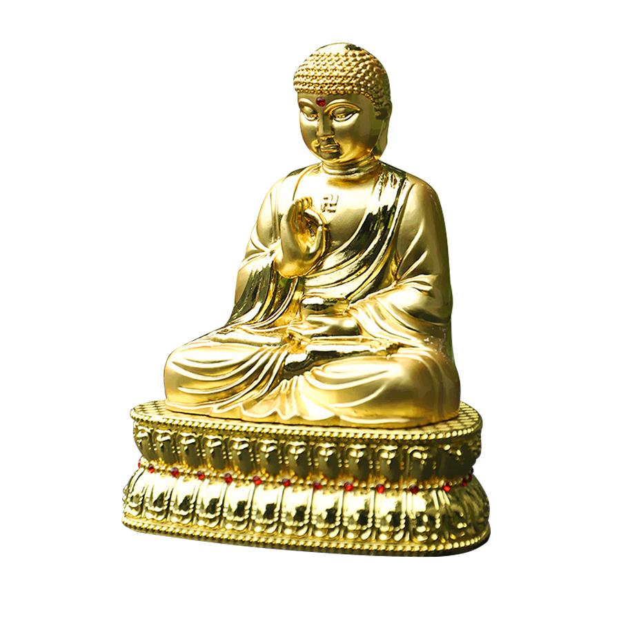 Tượng A Di Đà Phật Vàng trang trí trong xe ô tô