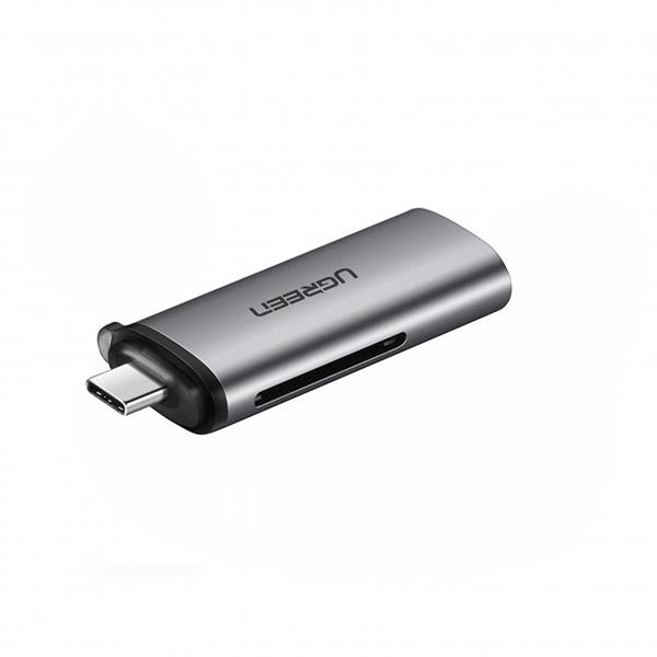 Đầu đọc thẻType C (TF/SD/CF/MS)3.0  Chuẩn: USB-C,USB 3.1Gen 1  Ugreen -50704 Hàng chính hãng