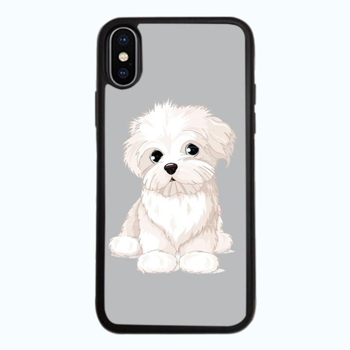 Ốp Lưng Kính Cường Lực Dành Cho Điện Thoại iPhone X Puppy Cute Mẫu 6