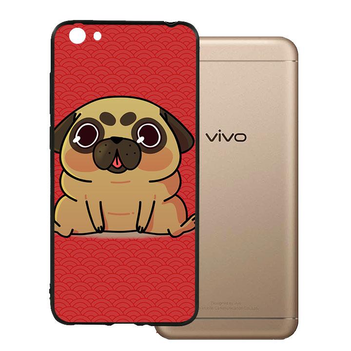 Ốp lưng viền TPU cho Vivo Y55 - Kute Dog 02