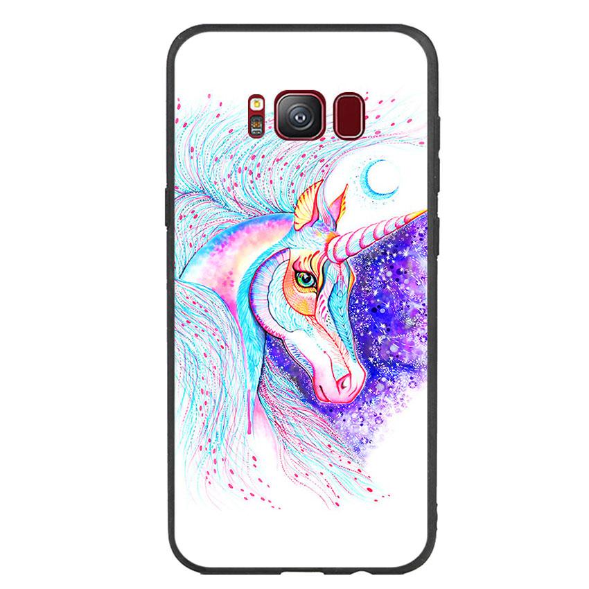 Ốp lưng nhựa cứng viền dẻo TPU cho điện thoại Samsung Galaxy S8 - Horse 01