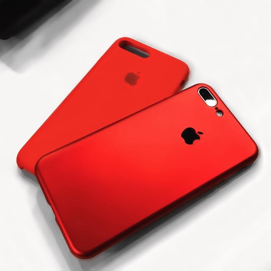 Ốp lưng nhung đỏ cao cấp hở táo cho iphone