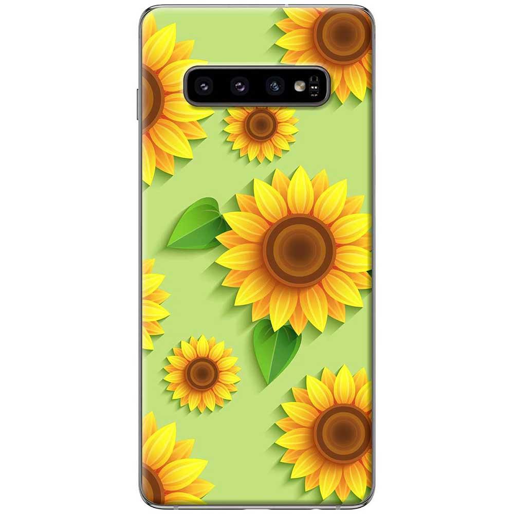 Ốp lưng  dành cho Samsung Galaxy S10 mẫu Hoa hướng dương
