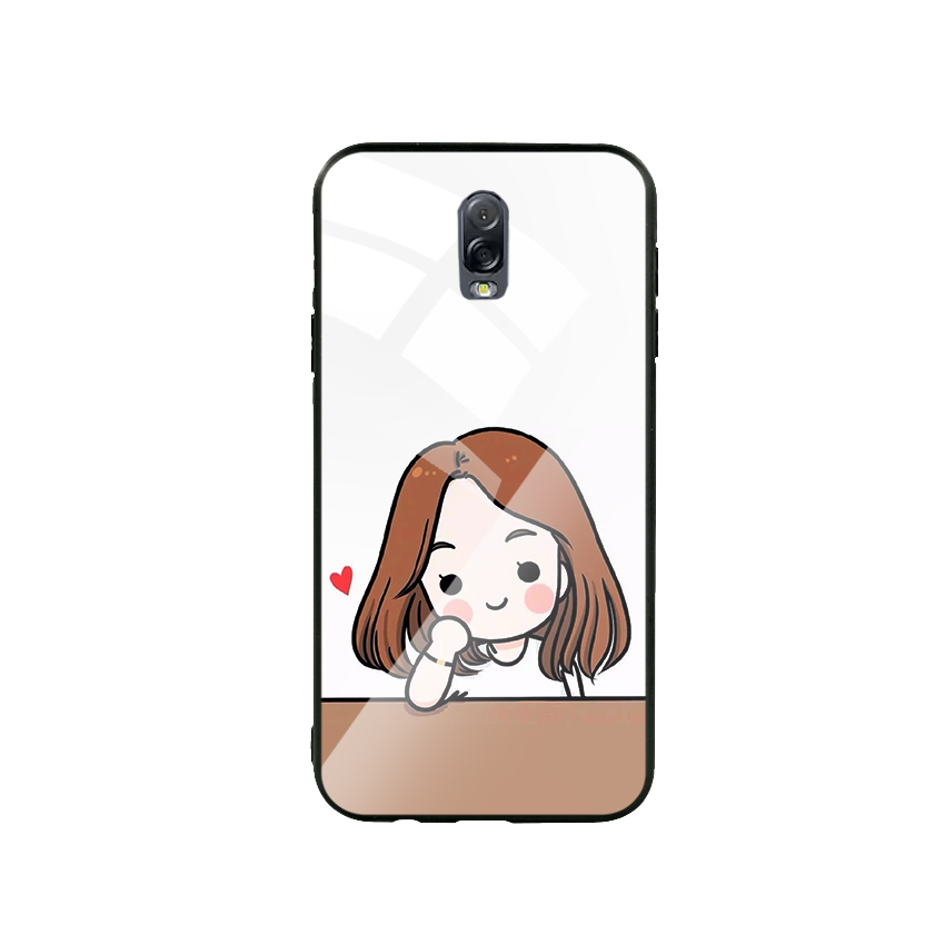 Ốp Lưng Kính Cường Lực cho điện thoại Samsung Galaxy J7 Plus - Couple Girl 03
