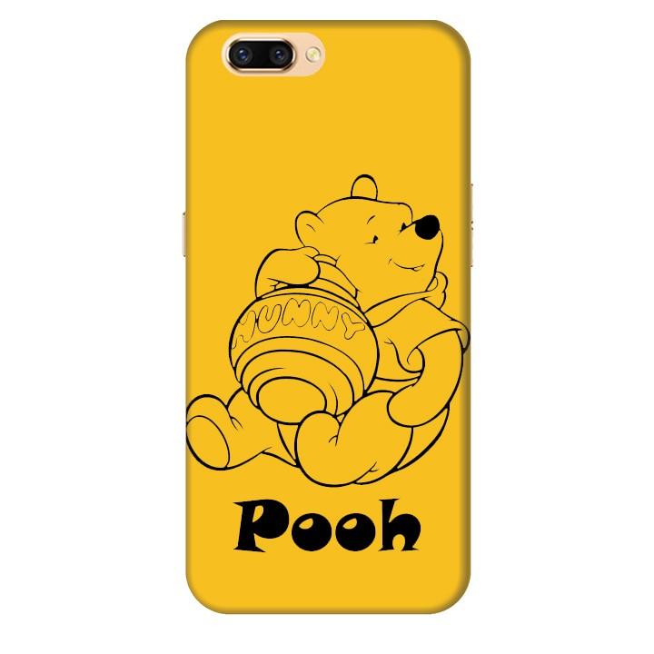 Ốp lưng nhựa cứng nhám dành cho Oppo R11 in hình Pooh