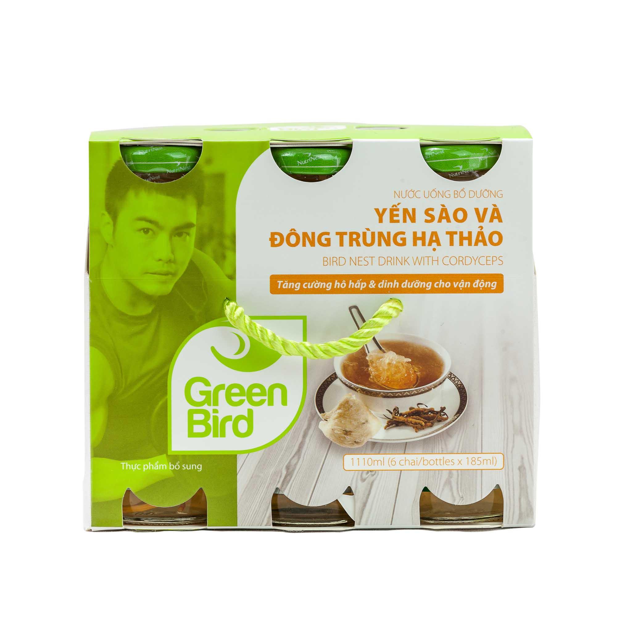 Khay Green Bird - Nước Uống Bổ Dưỡng Yến Sào và Đông Trùng Hạ Thảo - (6 hũ*185ml) - 18340000 , 7608534441141 , 62_11344888 , 174000 , Khay-Green-Bird-Nuoc-Uong-Bo-Duong-Yen-Sao-va-Dong-Trung-Ha-Thao-6-hu185ml-62_11344888 , tiki.vn , Khay Green Bird - Nước Uống Bổ Dưỡng Yến Sào và Đông Trùng Hạ Thảo - (6 hũ*185ml)