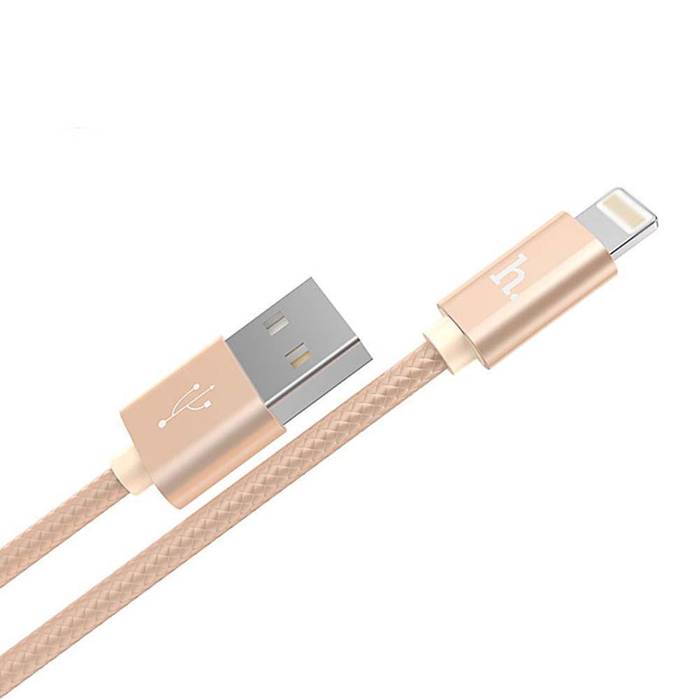 Cáp sạc Lightning Hoco X2 cho iPhone - dài 1m (Vàng đồng) - Hãng chính hãng - 970320 , 2025489515539 , 62_2365543 , 70000 , Cap-sac-Lightning-Hoco-X2-cho-iPhone-dai-1m-Vang-dong-Hang-chinh-hang-62_2365543 , tiki.vn , Cáp sạc Lightning Hoco X2 cho iPhone - dài 1m (Vàng đồng) - Hãng chính hãng
