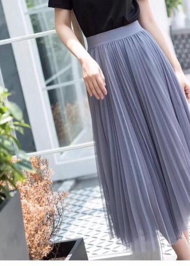 Chân váy ren công chúa dáng dài 01
