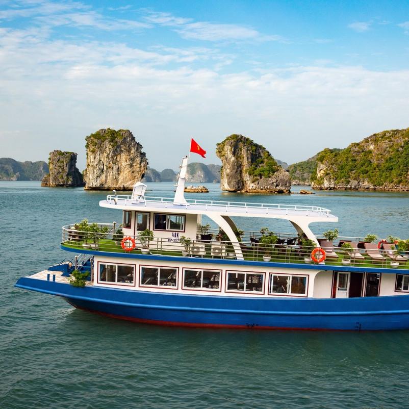 Tour Hạ Long - Lán Hạ Bay 8 Tiếng trên Vịnh với Du Thuyền Lapaci