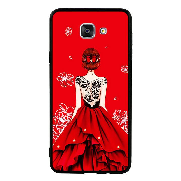 Ốp lưng nhựa cứng viền dẻo TPU cho điện thoại Samsung Galaxy A9 Pro - Girl 05