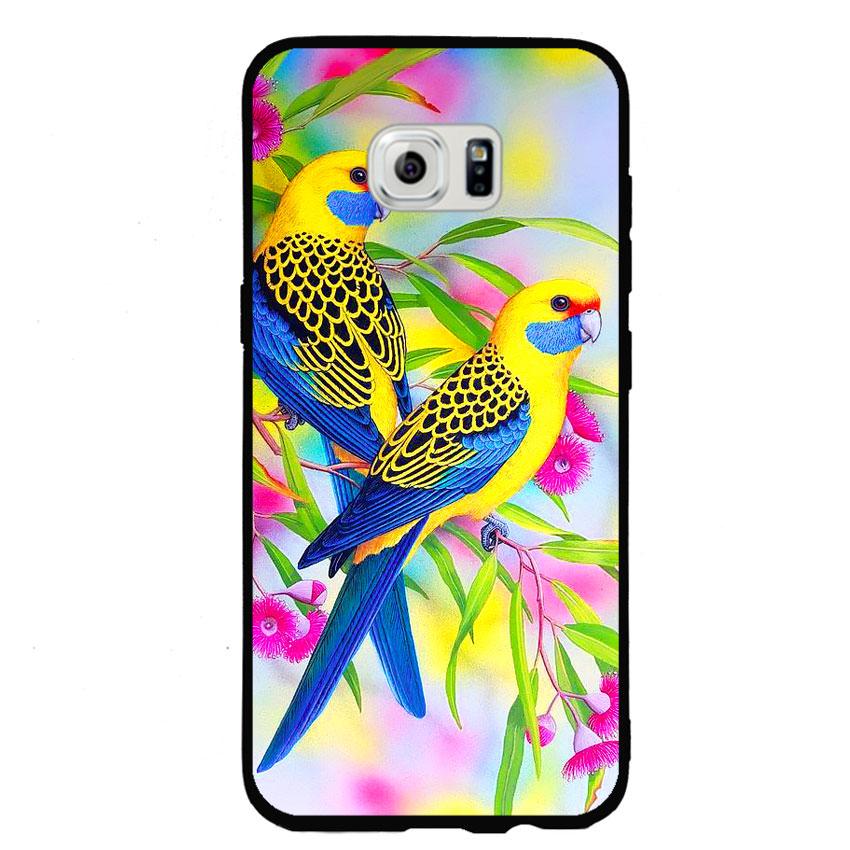 Ốp lưng nhựa cứng viền dẻo TPU cho điện thoại Samsung Galaxy S6 Edge - Couple Bird