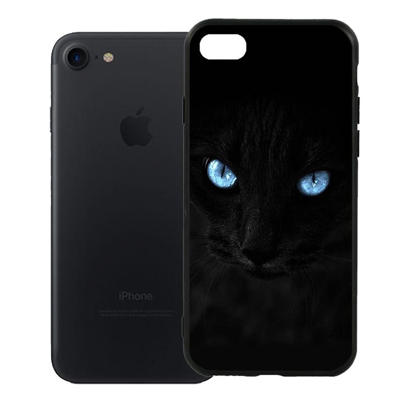 Ốp Lưng Viền TPU Cao Cấp Dành Cho iPhone 7 - Hắc Miu