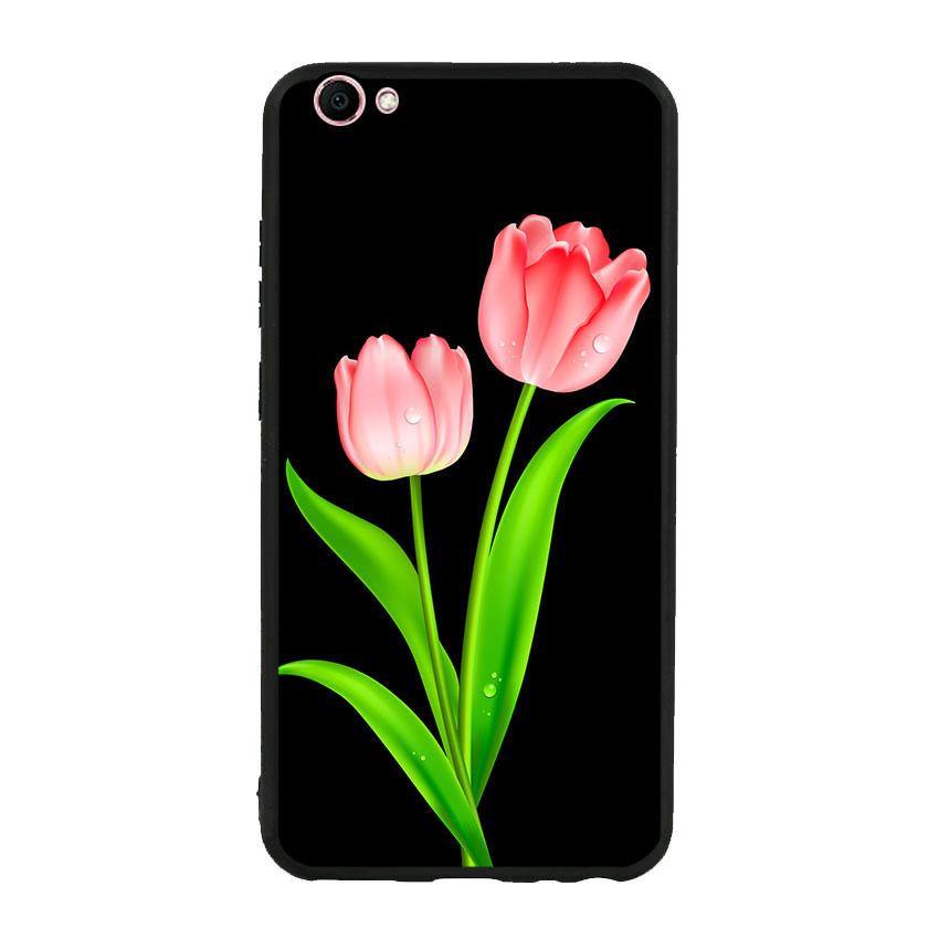 Ốp lưng viền TPU cho điện thoại Vivo V5 - Tulip 01