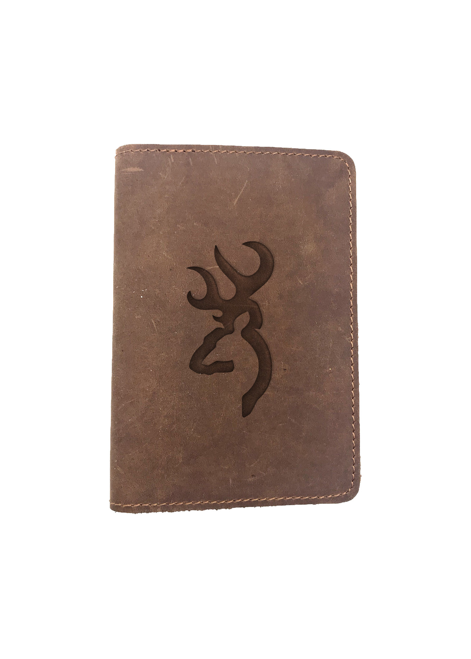 Passport Cover Bao Da Hộ Chiếu Da Sáp Khắc Hình Săn HUNTING (BROWN)