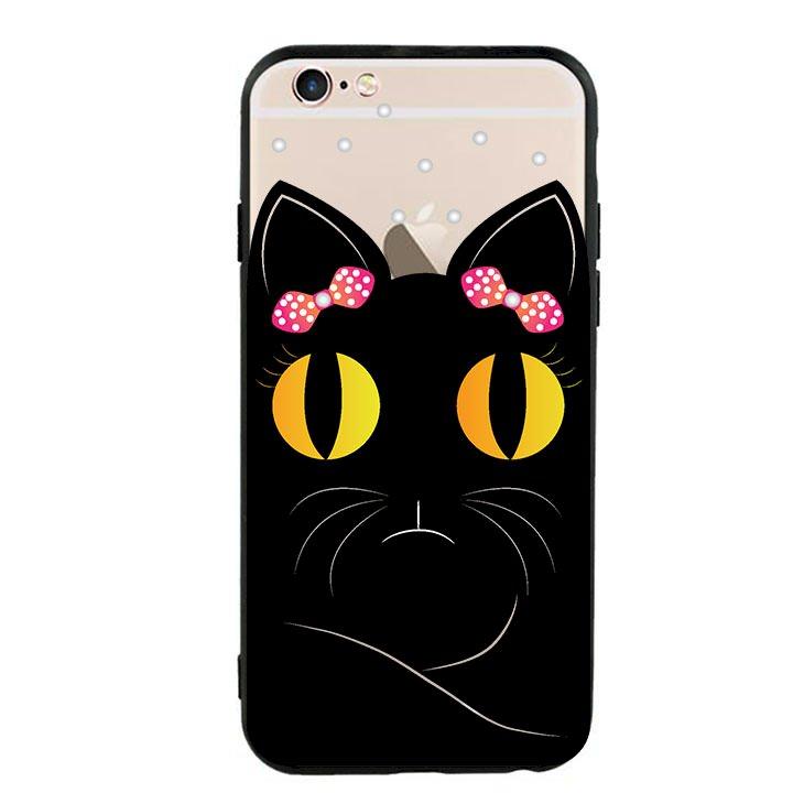Ốp lưng viền TPU cho Iphone 6/6s - Mèo Mun 02