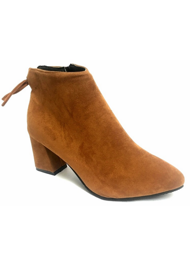 Giày Boot Nữ Da Lộn Thắt Nơ Gót Vuông B09 - Nâu - 897881 , 4724497471537 , 62_4373017 , 240000 , Giay-Boot-Nu-Da-Lon-That-No-Got-Vuong-B09-Nau-62_4373017 , tiki.vn , Giày Boot Nữ Da Lộn Thắt Nơ Gót Vuông B09 - Nâu
