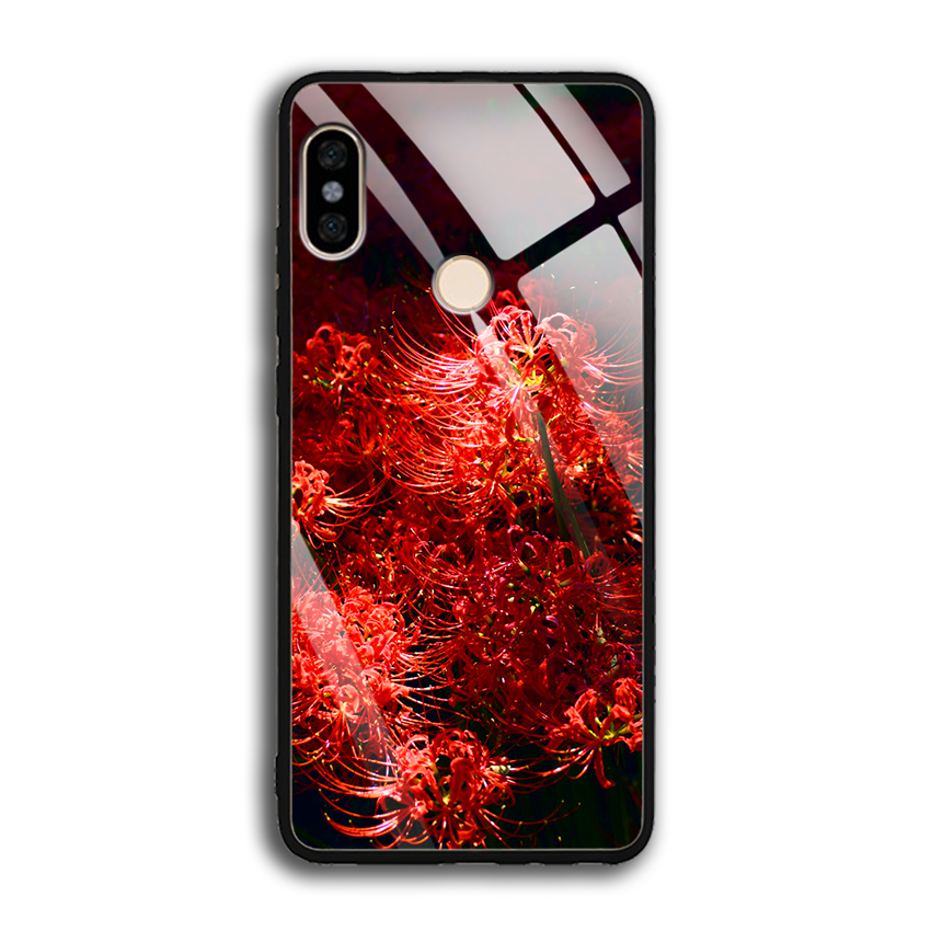 Ốp Lưng Kính Cường Lực cho điện thoại Xiaomi Redmi Note 5/note 5 pro - 0592 HOABINGAN03 - In hình Hoa Bỉ Ngạn - Hàng Chính...