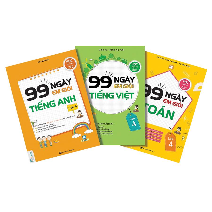 Combo 3 Cuốn 99 Ngày Em Giỏi Toán - Tiếng Việt - Tiếng Anh Lớp 4 - 1603599 , 5424350968974 , 62_12312759 , 297000 , Combo-3-Cuon-99-Ngay-Em-Gioi-Toan-Tieng-Viet-Tieng-Anh-Lop-4-62_12312759 , tiki.vn , Combo 3 Cuốn 99 Ngày Em Giỏi Toán - Tiếng Việt - Tiếng Anh Lớp 4