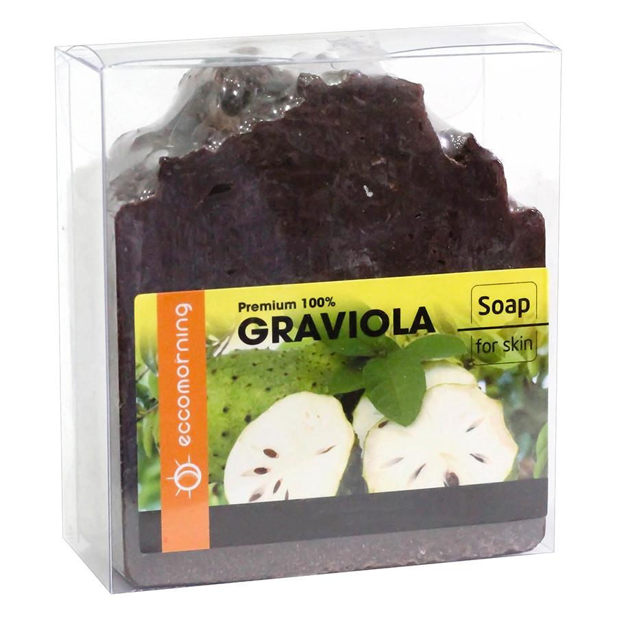 Xà Bông Thiên Nhiên Từ Mãng Cầu Eccomorning Natural Handmade Graviola Soap (100g)