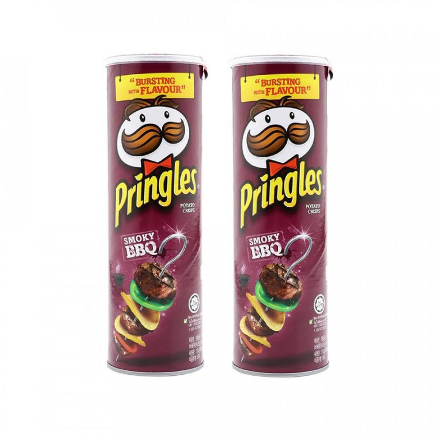 Bộ 2  Khoai tây chiên Pringles  BBQ 158g - Nhập khẩu Mỹ