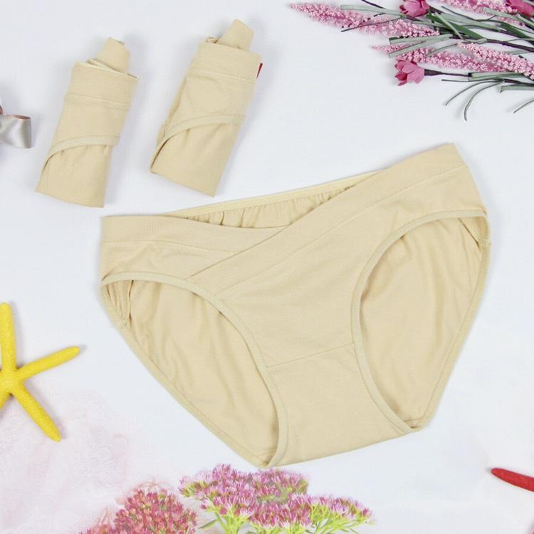 Combo 2 quần lót bầu đắp chéo sau sinh cho mẹ Emum