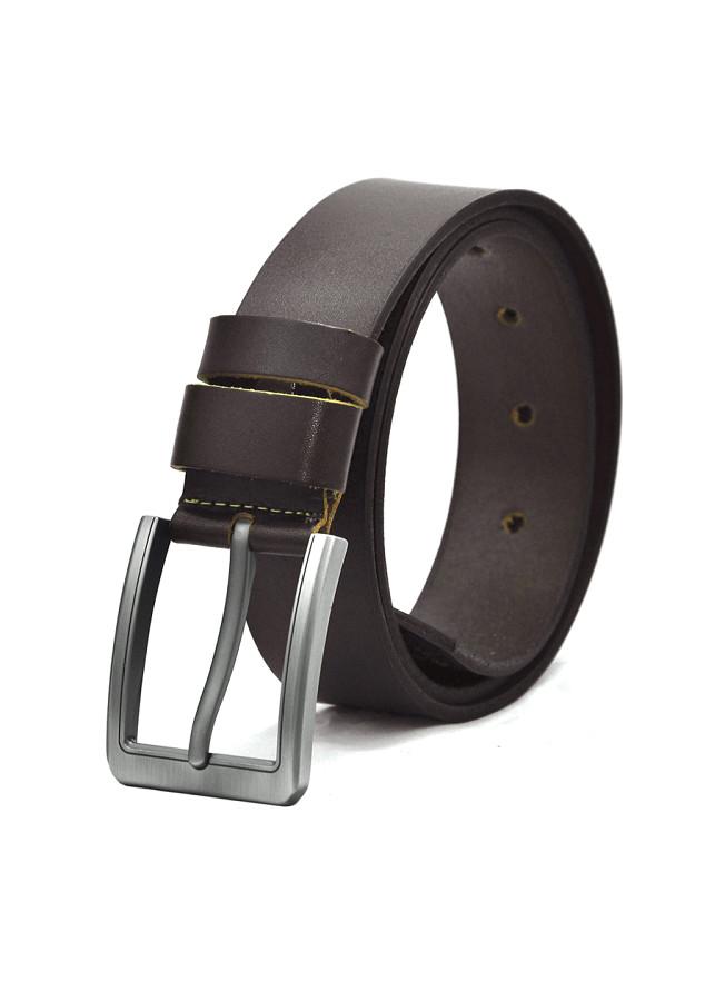 Thắt lưng da bò nam AT Leather Premium PK1 - Nâu