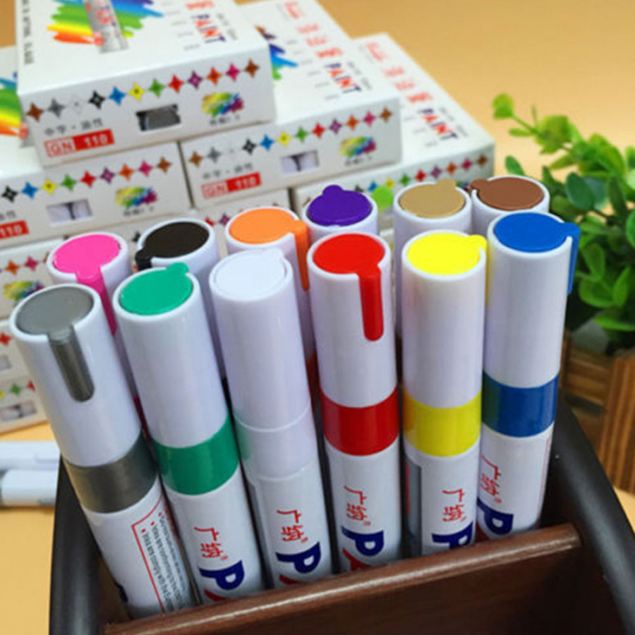 Marker Pen Paint Pen Universal Oily ABS Car Tire Tread Writing Tool